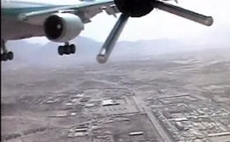 German drone nearly hits Afghan airbus