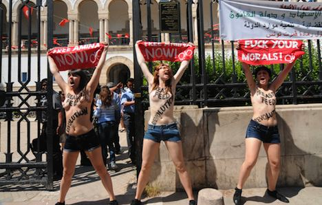 Tunisia jails topless protesters for 4 months