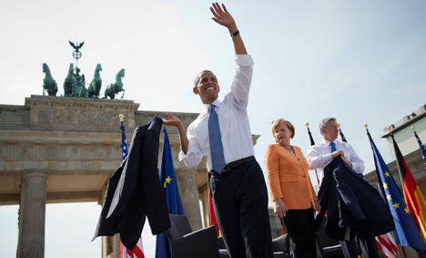 'Does Germany trust Obama to lead the way?'