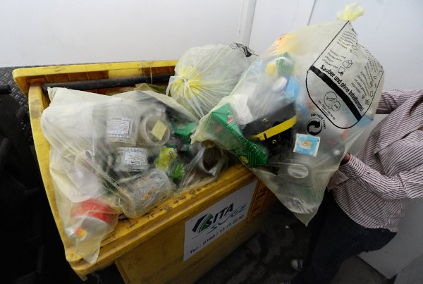 That joke about deliberately mixing up rubbish just to annoy people, putting all the recyclables in the black bin, and everything else in the bio bin. Not funny if they were to be listening in. Not even a little bit. Photo: DPA