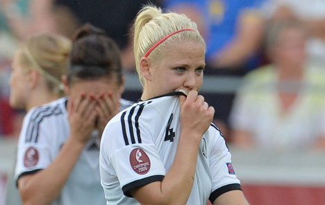 First Euro defeat for female footie team