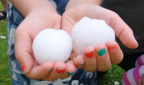 Ping pong ball hail hits the southwest