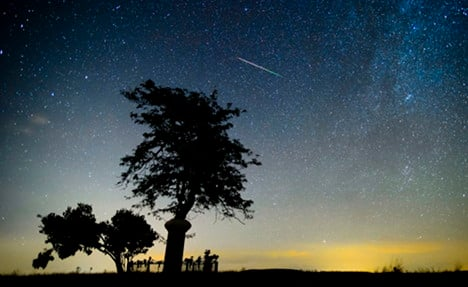 Giant meteor shower to give Germany a show
