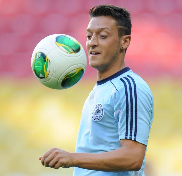 Star footballer plays first Germany friendly after being signed by Arsenal for a cool €50 million.Photo: DPA