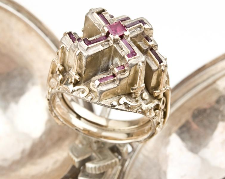 Hitler's gaudy ruby ring is going up for auction. It was valued this week at $100,000. Photo: DPA