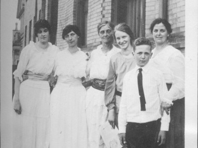 Late 1917, Mildred third from right with familyPhoto: Courtesy of Eric Carlson