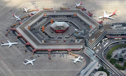 Tegel airport<br>Tegel airport is small, making it convenient for regular flyers.Photo: DPA
