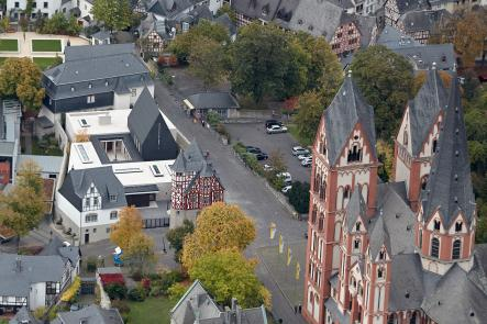 A view of the cathedral and bishop's residence from above.Photo: DPA