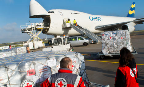 Germany flies 70 tonnes of aid to Philippines