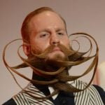 """American Justin Kellermeister, who competed in the """"freestyle full beard"""" category.Photo: DPA"""