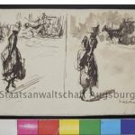 """German artist Max Liebermann's """"Two drawings, each with female figure in foreground, horse and carriage in background.""""Photo: DPA / Staatsanwaltschaft Augsburg"""