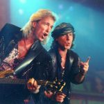 Frontman Klaus Meine and bassist Francis Buchholz playing in Frankfurt am Main back in 1991.Photo: DPA