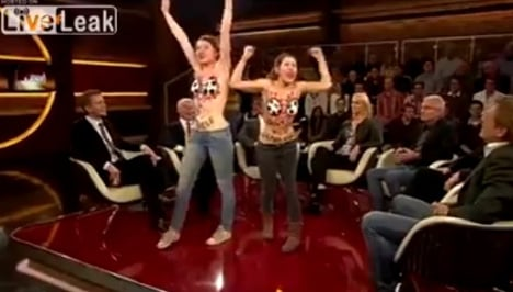 Topless protesters storm talkshow over Qatar 2022