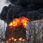 An explosion erupted at a Shell oil plant on Thursday in western Germany.Photo: DPA