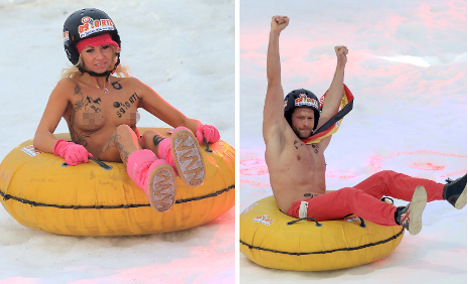 Nude sledging germany