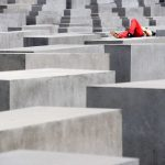 """<b>Multilingual Memorial Minder:</b> Berlin's Memorial to the Murdered Jews of Europe can be found right next to the very touristy Brandenburg Gate. And as etiquette at the unusual memorial isn't clear, the city has employed a polyglot security officer to shout """"get off the blocks!"""" in what sounds like a hundred languages. If you like shouting, and can do it many languages, this could be the job for you.Photo: DPA"""