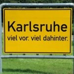 """The southwestern city of Karlsruhe, known chiefly as the home of Germany's highest court, has long been a laughing stock for proclaiming to have """"viel vor. viel dahinter"""". Literally translated, lots in front, lots behind. Photo: DPA"""