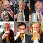 Politicians of all stripes were on the beer.Photo: DPA