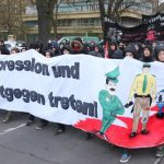 """A far-left protest against """"state repression"""" <a href=""""http://www.thelocal.de/20140324/police-struggle-with-far-left-berlin-demo"""" target=""""_blank"""">in Berlin over the weekend</a> turned violent.Photo: DPA"""