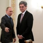"""Siemens chief Joe Kaeser <a href=""""http://www.thelocal.de/20140326/siemens-to-invest-long-term-in-russia"""" target=""""_blank"""">meets with Russia's President Vladimir Putin near Moscow on Wednesday.</a>Photo: DPA"""