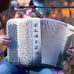 """<b>Accordion:</b> When asked to think of Germany, one often thinks of a portly man wearing lederhosen, a green hat and a chirpy grin, playing folktunes on a huge accordion. In fact, early versions of the instrument date back to third century BC China - but the first """"true"""" accordion was indeed invented by a German, Christian Friedrich Buschmann, who in 1822 attached bellows to a portable keyboard with vibrating reeds, naming it a """"hand-aeoline"""".Photo: DPA"""