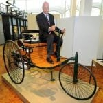 <b>Automobile:</b> The first true working car, little more than a motorised tricycle, was invented by Germans Karl Benz and Gottlieb Daimler in 1886, 22 years before the Model T Ford went into production in the USA.Photo: DPA