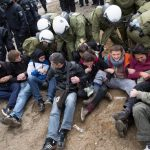 A sit in by protesters.Photo: DPA