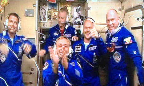 German astronaut docks with space station