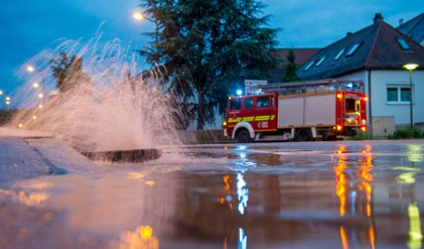 Heavy rain hits central Germany and heads east