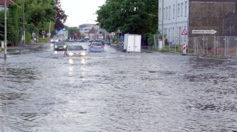 Summer storms thunder over central Germany