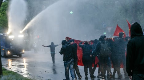 Police and protesters clash in May 1st demos