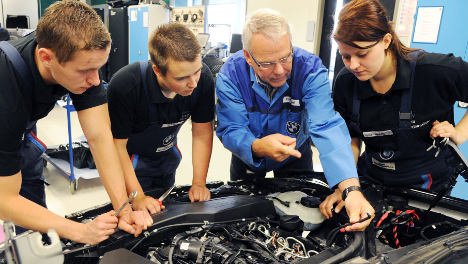Apprenticeship numbers hit record low