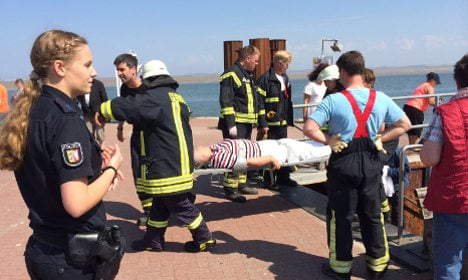 Ferry crashes into dock injuring 27 people