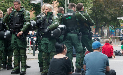 Berlin's refugee protest: 'This is a police siege'