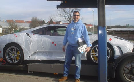Ex-US army officer can't drive his €88k Ferrari