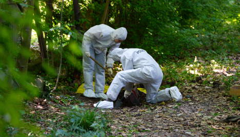 Barbecue-goers find bodies in suitcases