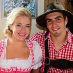 Pretty blonde Claudia Lahm with her husband Phillipp Lahm at the Oktoberfest in 2013.Photo: DPA