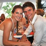 The couple are German football's dream pair. They got married when they were both just 20 in 2009. Photo: DPA