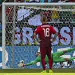 """<b>7) Penalties:</b> It is always a nerve-wracking moment when your country is about to take a penalty in the World Cup (Elfmeter schießen) just don't confuse it with """"Elfmeter scheißen"""" as one reader did during the 2006 World Cup.Photo: Müller's penalty against Portugal in the World Cup 2014. DPA"""