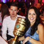 Miroslav Klose met his pretty brunette wife in FC Kaiserlautern club shop. The couple have been married since 2003 and have twin boys.   Photo: DPA