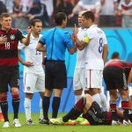 There was a flurry of fouls and yellow cards in the match. Photo: DPA