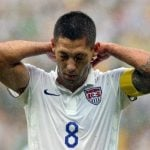 Clint Dempsey couldn't break through the German defence. Photo: DPA