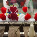 3D printed flowers and Mother's Day decorations.Photo: Dimension Alley