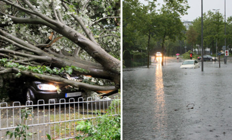 Two die as heavy rain and floods hits west