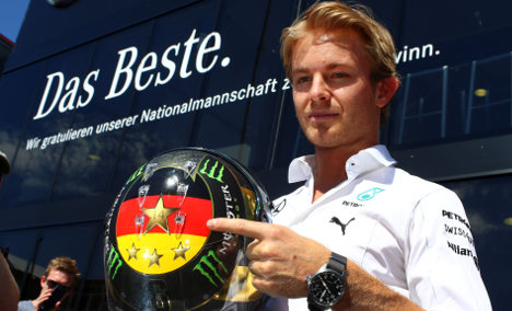 Fifa tell Rosberg to ditch World Cup F1 helmet