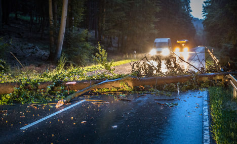 Storms hit south-west Germany