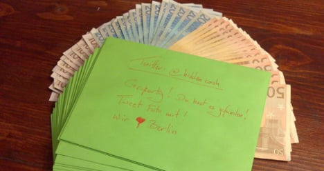 Finders are keepers in Berlin cash hunt