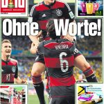 """""""No words!"""" The front page of Germany's biggest-selling newspaper, Bild, the day after the victory.Photo: Bild/Twitter"""