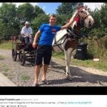 Meanwhile, Lukas Podolski has been meeting a horse in Poland...Photo: twitter.com@Podolski10