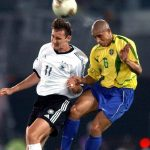 <b>Germany struggle against them:</b> Germany have never beaten Brazil at football on Brazilian soil. In total, Brazil has beaten Germany 12 times, including in the 2002 World Cup final (pictured), and lost four. Five of the matches have ended in draws. Photo: DPA